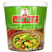 Карри паста зеленая, Mae Ploy Green Curry Paste, 1 кг.
