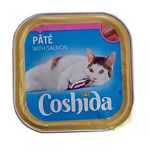 Консервы для кошек Coshida Pate with Salmon с лососем (роз.пол.), 2 шт х 100 гр